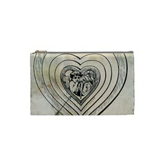 Heart Drawing Angel Vintage Cosmetic Bag (small)