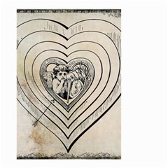 Heart Drawing Angel Vintage Small Garden Flag (two Sides)