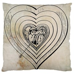 Heart Drawing Angel Vintage Large Cushion Case (one Side)