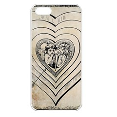 Heart Drawing Angel Vintage Apple Iphone 5 Seamless Case (white)