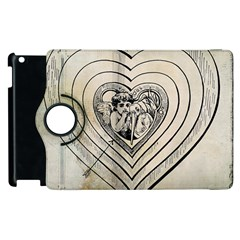 Heart Drawing Angel Vintage Apple Ipad 2 Flip 360 Case