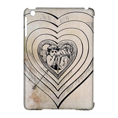 Heart Drawing Angel Vintage Apple Ipad Mini Hardshell Case (compatible With Smart Cover)
