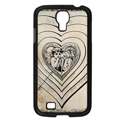 Heart Drawing Angel Vintage Samsung Galaxy S4 I9500/ I9505 Case (black)