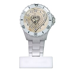 Heart Drawing Angel Vintage Plastic Nurses Watch