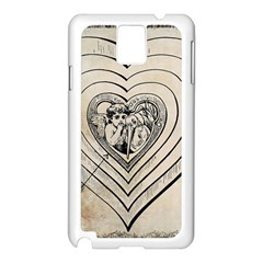 Heart Drawing Angel Vintage Samsung Galaxy Note 3 N9005 Case (white)