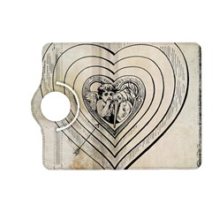 Heart Drawing Angel Vintage Kindle Fire Hd (2013) Flip 360 Case