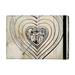 Heart Drawing Angel Vintage Ipad Mini 2 Flip Cases