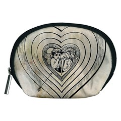 Heart Drawing Angel Vintage Accessory Pouches (medium)