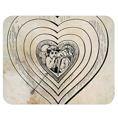 Heart Drawing Angel Vintage Double Sided Flano Blanket (medium)