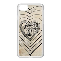 Heart Drawing Angel Vintage Apple Iphone 8 Seamless Case (white)