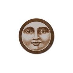 Moon Face Vintage Design Sepia Golf Ball Marker (10 Pack)