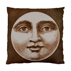 Moon Face Vintage Design Sepia Standard Cushion Case (two Sides) by Nexatart