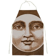 Moon Face Vintage Design Sepia Full Print Aprons