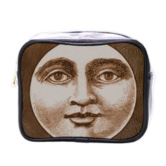Moon Face Vintage Design Sepia Mini Toiletries Bags