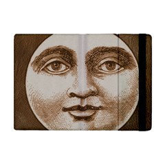 Moon Face Vintage Design Sepia Apple Ipad Mini Flip Case