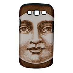 Moon Face Vintage Design Sepia Samsung Galaxy S Iii Classic Hardshell Case (pc+silicone)