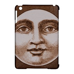 Moon Face Vintage Design Sepia Apple Ipad Mini Hardshell Case (compatible With Smart Cover)