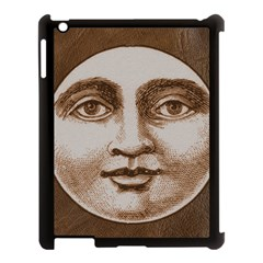 Moon Face Vintage Design Sepia Apple Ipad 3/4 Case (black)