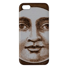 Moon Face Vintage Design Sepia Apple Iphone 5 Premium Hardshell Case by Nexatart