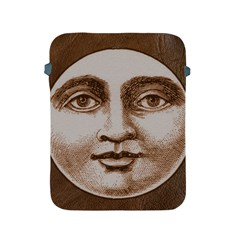 Moon Face Vintage Design Sepia Apple Ipad 2/3/4 Protective Soft Cases