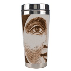Moon Face Vintage Design Sepia Stainless Steel Travel Tumblers