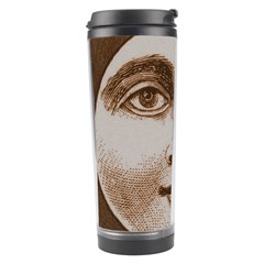 Moon Face Vintage Design Sepia Travel Tumbler