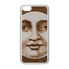 Moon Face Vintage Design Sepia Apple Iphone 5c Seamless Case (white)