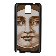 Moon Face Vintage Design Sepia Samsung Galaxy Note 3 N9005 Case (black)
