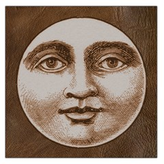 Moon Face Vintage Design Sepia Large Satin Scarf (square)