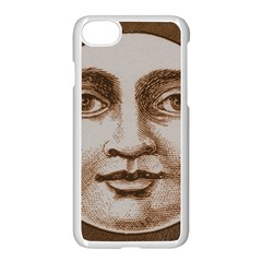 Moon Face Vintage Design Sepia Apple Iphone 7 Seamless Case (white)