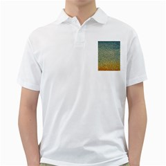 Background Cubism Mosaic Vintage Golf Shirts