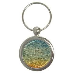 Background Cubism Mosaic Vintage Key Chains (round)