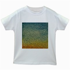 Background Cubism Mosaic Vintage Kids White T Shirts