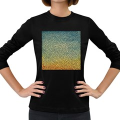 Background Cubism Mosaic Vintage Women s Long Sleeve Dark T Shirts by Nexatart