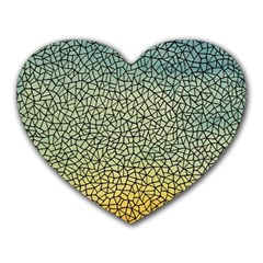 Background Cubism Mosaic Vintage Heart Mousepads