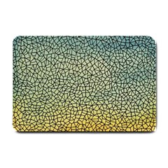 Background Cubism Mosaic Vintage Small Doormat