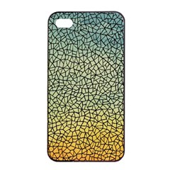 Background Cubism Mosaic Vintage Apple Iphone 4/4s Seamless Case (black)