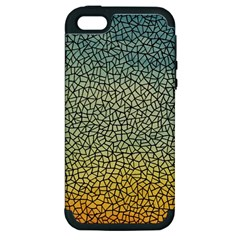 Background Cubism Mosaic Vintage Apple Iphone 5 Hardshell Case (pc+silicone) by Nexatart