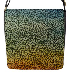 Background Cubism Mosaic Vintage Flap Messenger Bag (s)