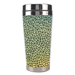 Background Cubism Mosaic Vintage Stainless Steel Travel Tumblers