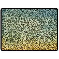 Background Cubism Mosaic Vintage Double Sided Fleece Blanket (large)