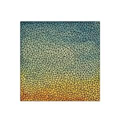 Background Cubism Mosaic Vintage Satin Bandana Scarf