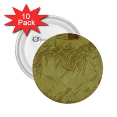 Vintage Map Background Paper 2 25  Buttons (10 Pack)