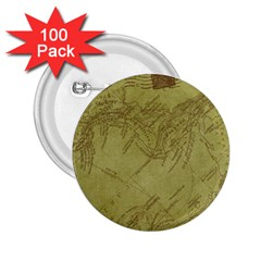 Vintage Map Background Paper 2 25  Buttons (100 Pack)