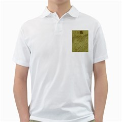 Vintage Map Background Paper Golf Shirts