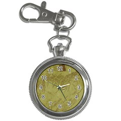 Vintage Map Background Paper Key Chain Watches