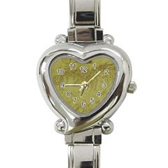 Vintage Map Background Paper Heart Italian Charm Watch