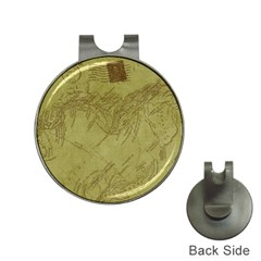 Vintage Map Background Paper Hat Clips With Golf Markers