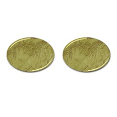 Vintage Map Background Paper Cufflinks (oval)