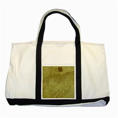 Vintage Map Background Paper Two Tone Tote Bag